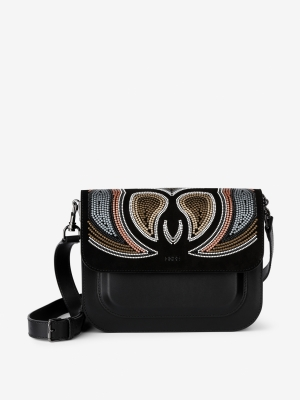 BREE-Cambridge-7-Umhängetasche-black-brown-stones-braun