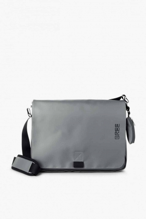 BREE Punch 49 Messenger Bag Tasche slate grau