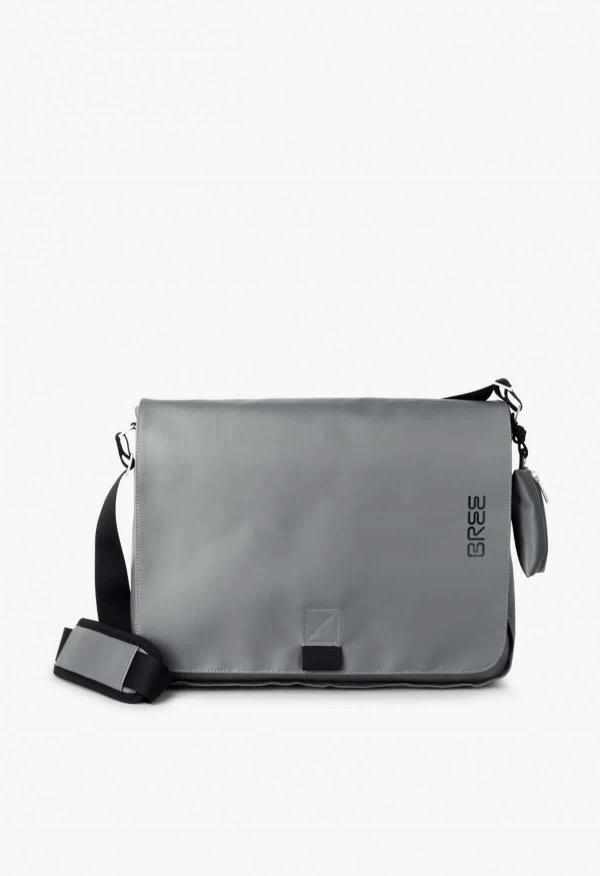 BREE Punch 49 Messenger Bag Tasche slate grau