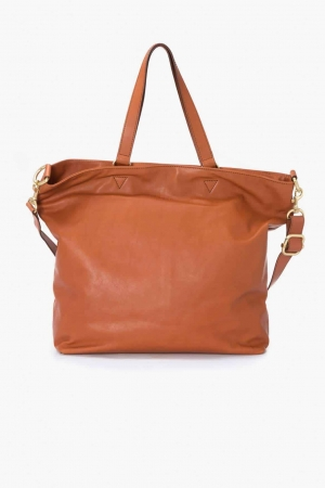 BREE Stockholm 34 Schultertasche whisky cognac