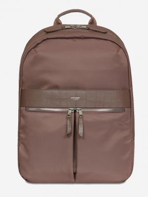KNOMO Beauchamp Backpack Rucksack brown metallic glanz braun 119-401-FIG_0