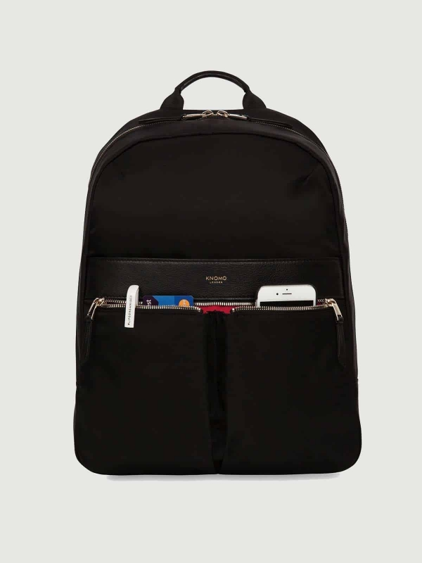 Knomo Beauchamp Rucksack Backpack Nylon Black schwarz kaufen bei stylekrone.com
