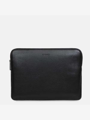 Knomo-Sleeve-12-Leder-Laptop-Hülle-Black-schwarz
