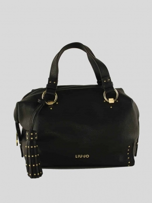 LIU-JO-Anna-Boston-Bag-S-Boston-Bag-Nero-Schwarz