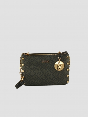 LIU-JO-Crossbody-Bag-Cross-Over-Militare-Dunkelgrün