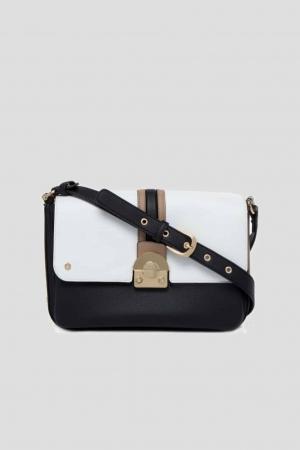 LIU-JO-Irvine-Shoulder-Bag-Cross-Over-Neroglass-Schwarz-weiß