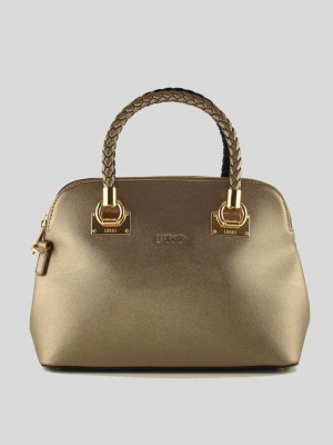 LIU-JO-Shopping-Bag-67-Shopping-Bag-Pale-Brown-MetNero-Gold