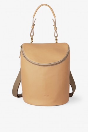 Bree Stockholm 40 nature beige Rucksasck Backpack Leder