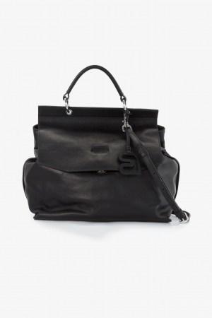 Bree Stockholm 31 black Leder Handtasche schwarz