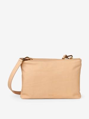 Bree Stockholm 46 Umhängetasche aus Leder Crossbody Bag nature beige