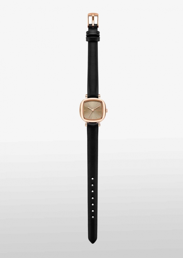 KOMONO MONEYPENNY Edelstahl mit Leder-Armband Black Rose KOM-W1233_2