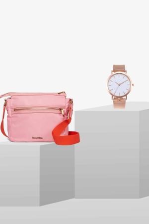 STYLEPAKET-Rose Gold Paket- Therese + Edelstahl Uhr