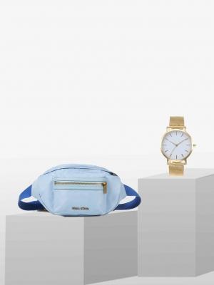 STYLEPAKET-Sky Blue Paket - Marc O'Polo Dora Gürteltasche + Uhr Gold