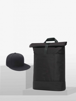 STYLEPAKET- Berlin Paket-Ucon Acrobatics Hajo Rucksack wasserdicht vegan Stealth +BaseCap schwarz black