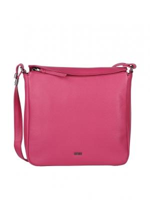 BREE Lia 2 Umhängetasche Cross Shoulder Leder jazzy pink 380130002_4038671020238_kaufen bei stylekrone.com