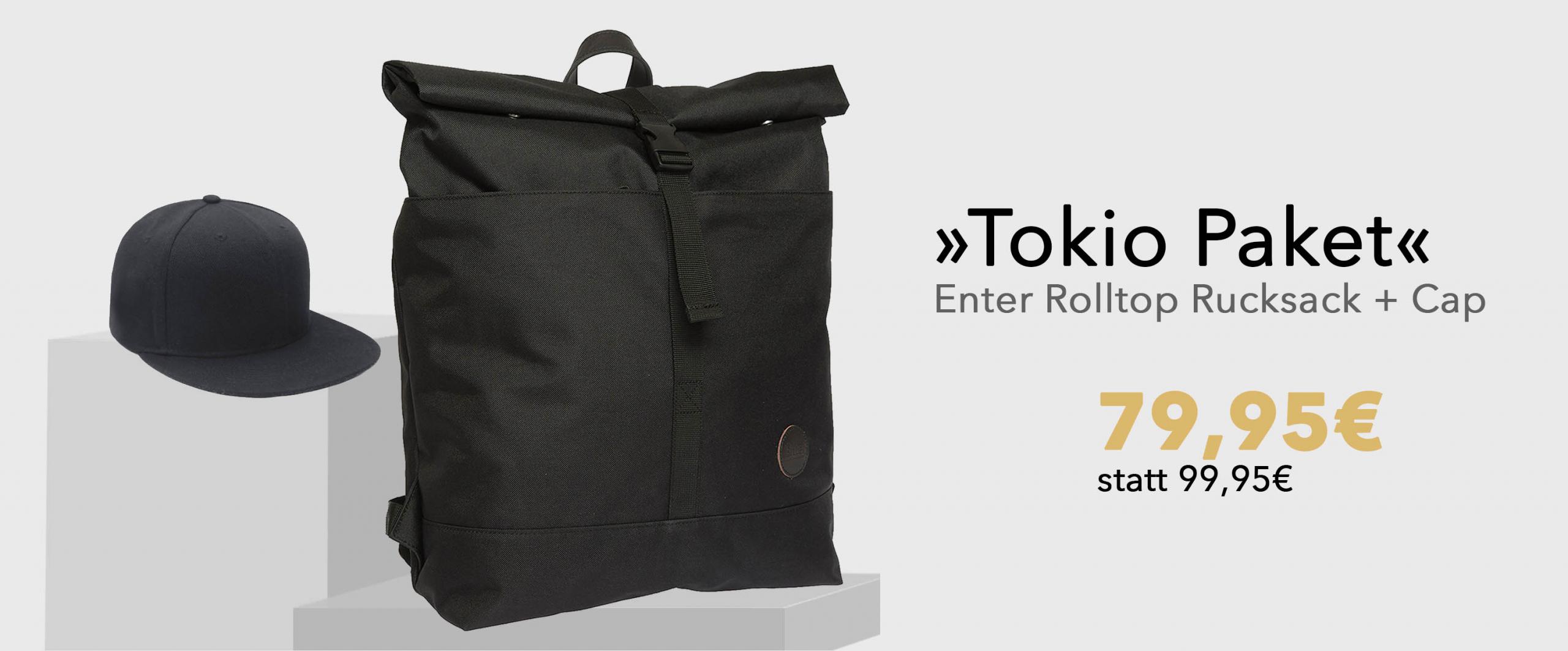 STYLEPAKET- Tokio Paket-Enter Rucksack_BaseCap-Banner