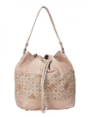 DESIDERIUS Clavus CHLOE Handtasche DEAW160188 beige Beuteltasche Hobo Bag Schultertasche