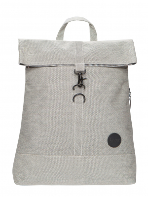 Enter City Fold Top Backpack Melange Black Rucksack_Grau schwarz_0