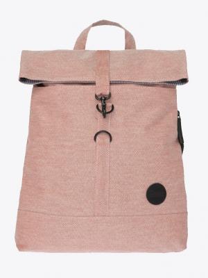 Enter City Fold Top Backpack Melange Red Rucksack rot_01