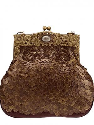 DESIDERIUS Stella GAEA Clutch Handtasche DEAW160331 copper braun kupfer