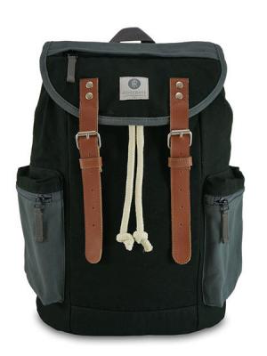 RIDGEBAKE Backpack Mid Liam Black & Ash 1-130CA aus Canvas kaufen bei stylekrone.com