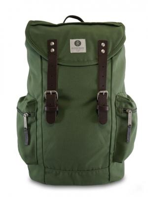 RIDGEBAKE Rucksack Liam Dusty Green & Brown Leather 1-126CA aus Canvas kaufen bei stylekrone.com